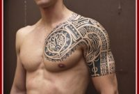 The Best Tribal Sleeve Tattoo Image For Site Com Ideas Men Half regarding measurements 1105 X 900