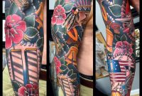 Traditional American History Sleeve Tattoo Myke Chambers regarding proportions 960 X 960
