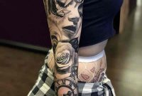 Womens Black And Grey Tattoo Sleeve Andres Ortega Ink throughout dimensions 800 X 1079