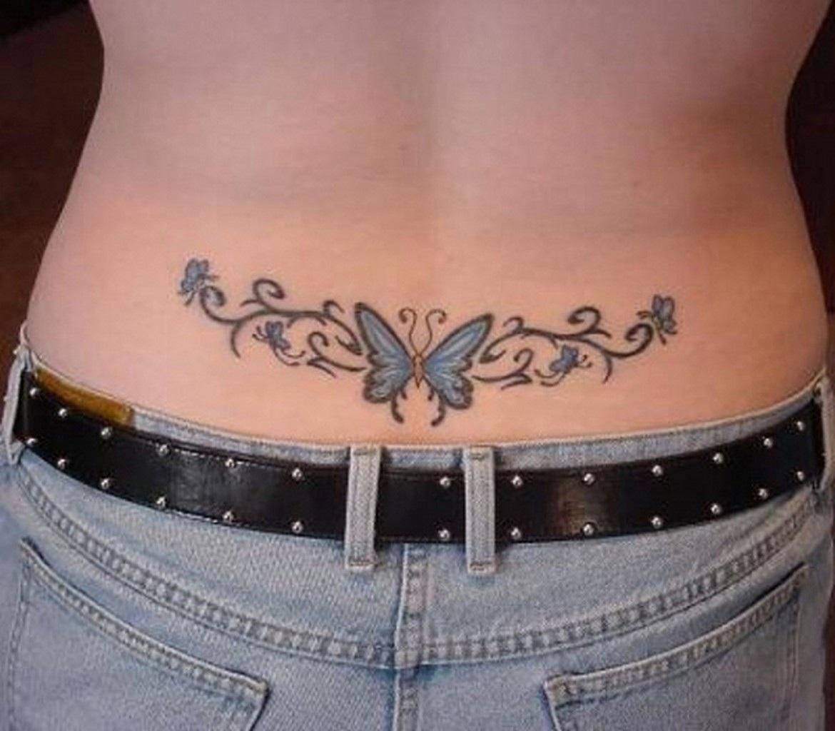 25 Lower Back Tattoos That Will Make You Look Hotter Booty Tat within dimensions 1170 X 1024