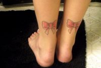 51 Glorious Bow Tattoos On Ankle with size 768 X 1024