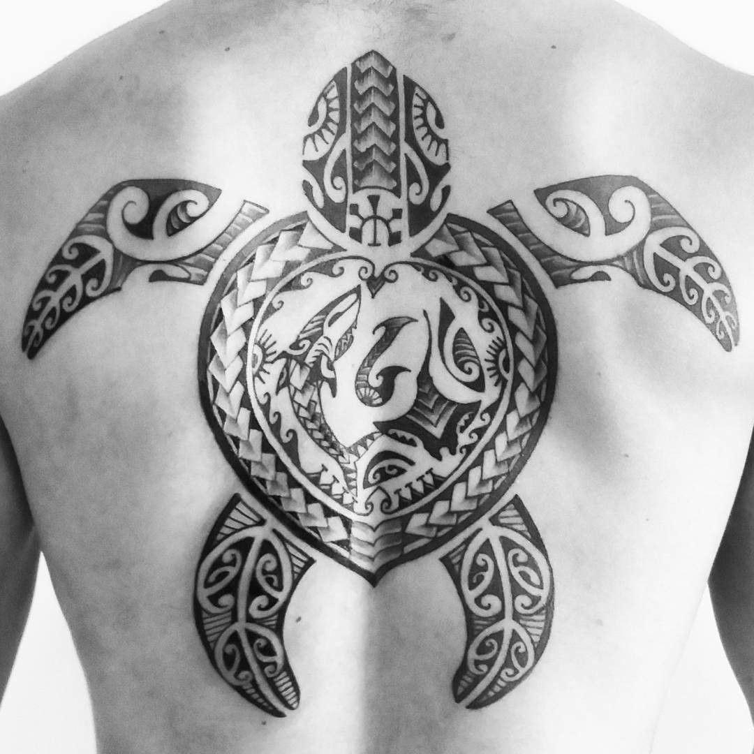 An Awesome Big Tribal Turtle Tattoo On The Back Tattoosonback throughout measurements 1080 X 1080