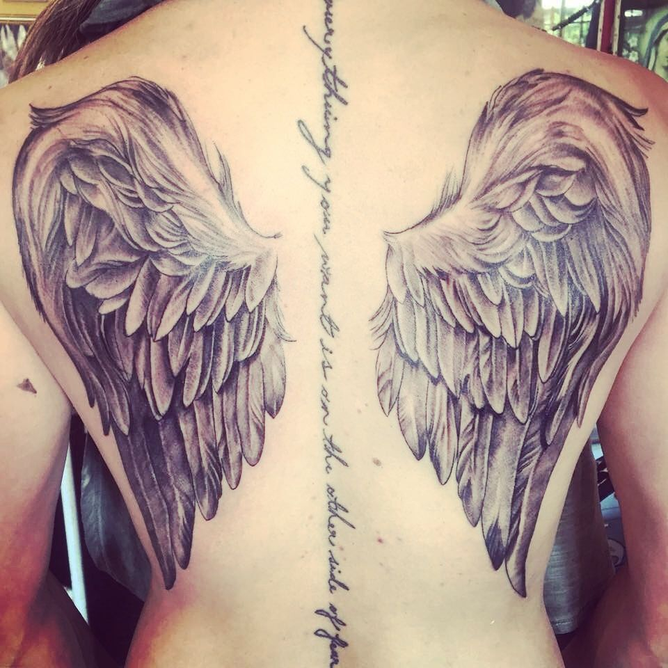 Angel Wings Female Back Tattoo Cool Art Tattoos Back Tattoo with proportions 960 X 960