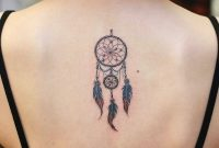 Dreamcatcher Tattoo Inked At The Center Of The Upper Back Back pertaining to size 1080 X 1080