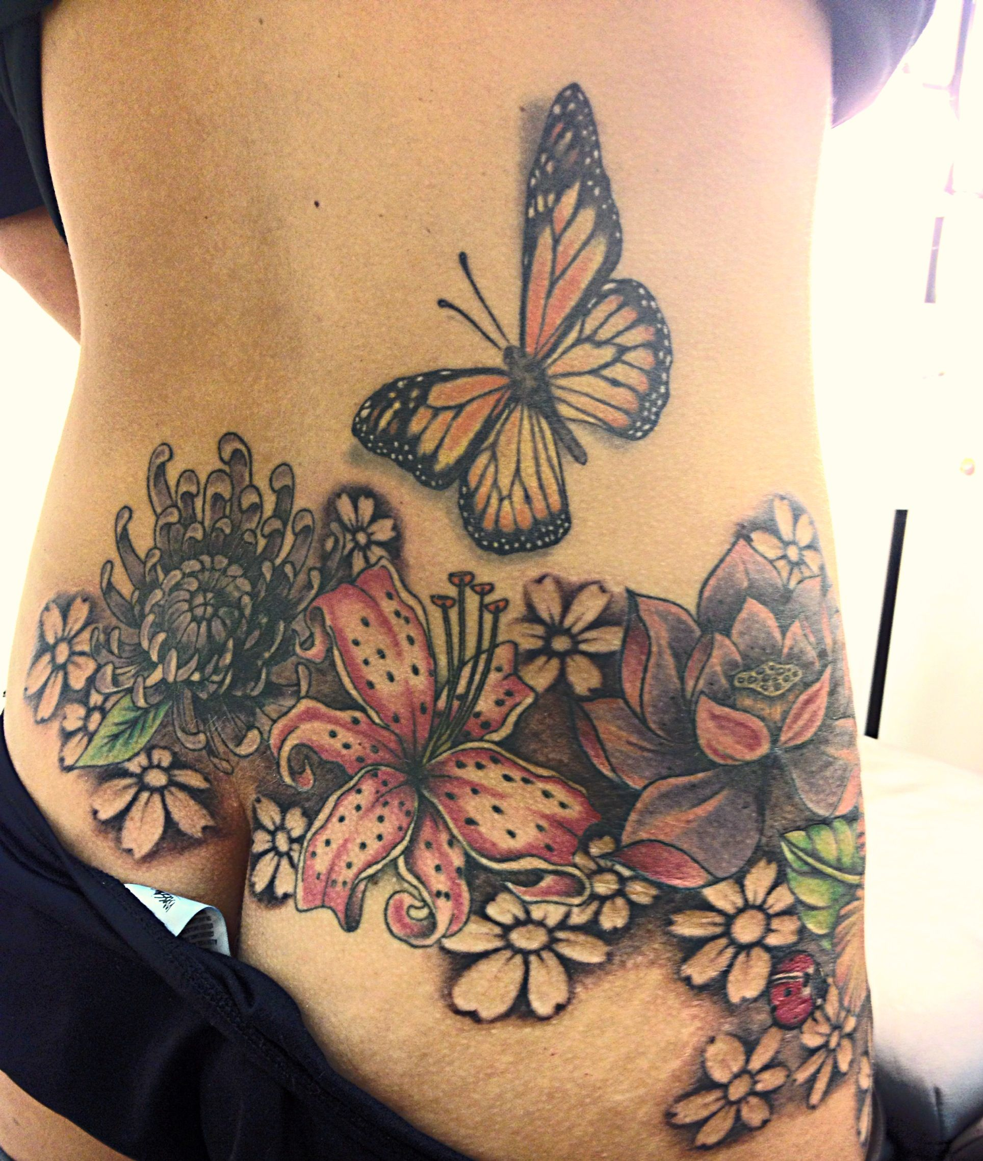 Lower Back And Hip Tattoo Not So Tramp Stamp Back Hip Tattoos with regard to size 1928 X 2277