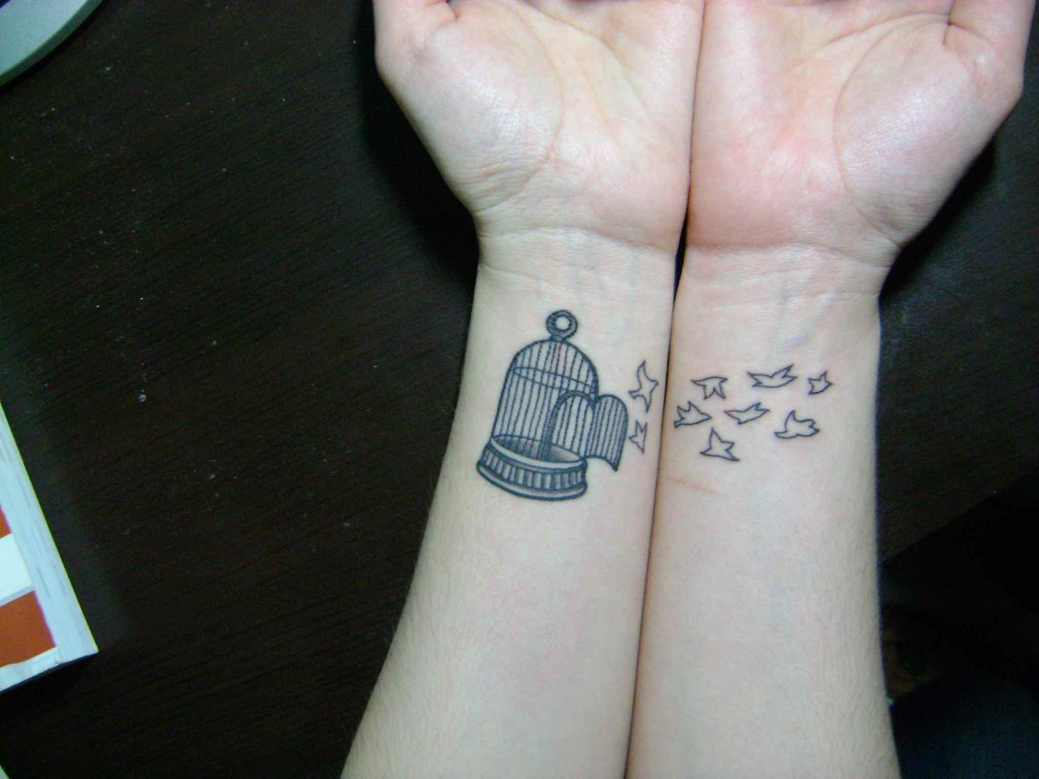 27 Dazzling Bird Cage Wrist Tattoos for sizing 2048 X 1536
