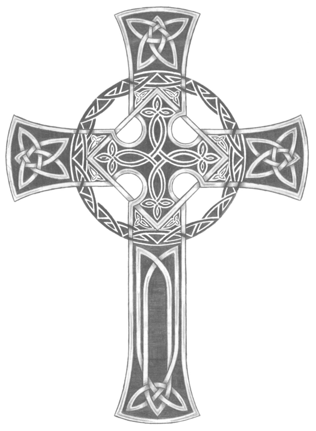 46 Celtic Cross Tattoos Designs regarding measurements 1102 X 1503