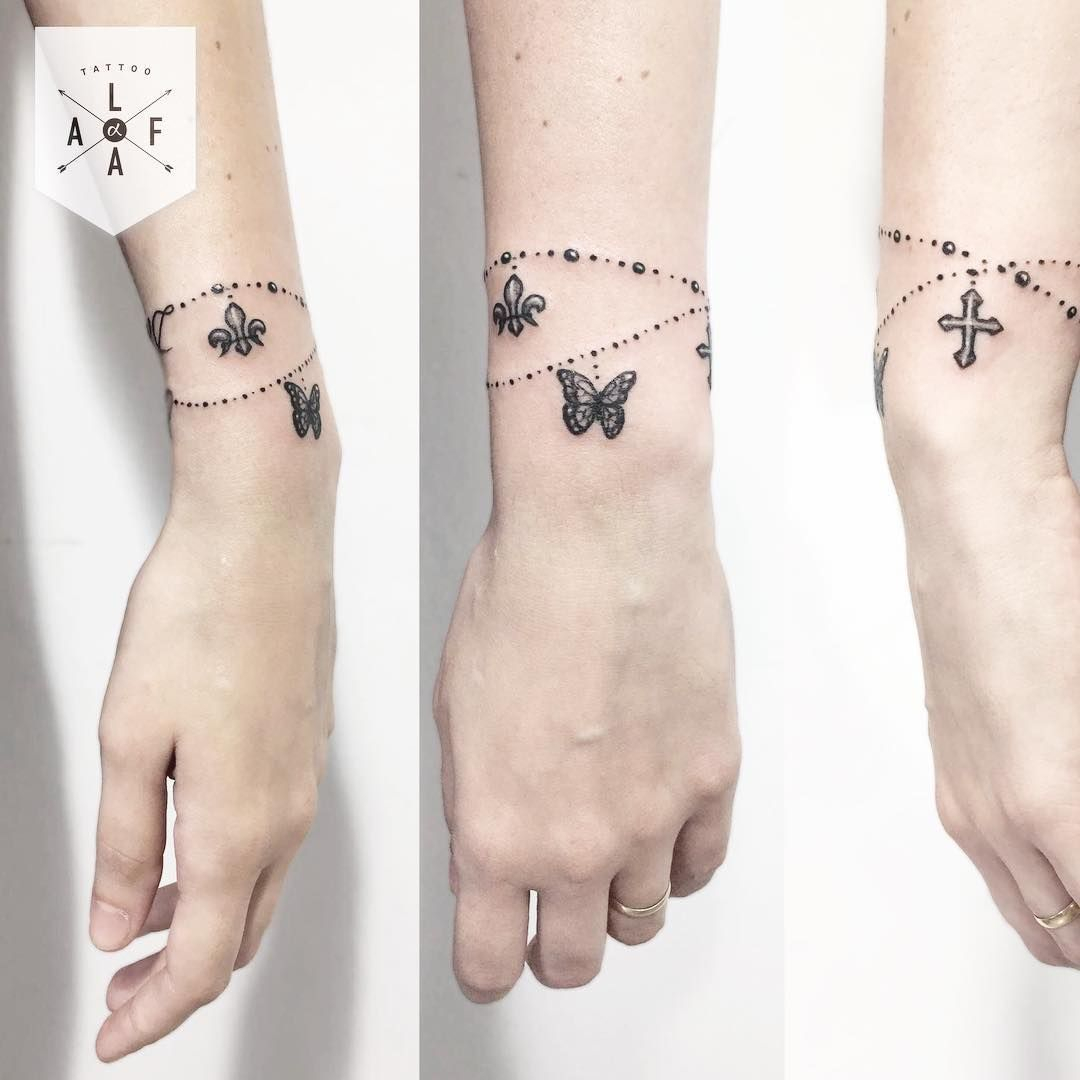 74 Bracelet Tattoo To Get Inspired If You Love Accessories Maybe inside measurements 1080 X 1080