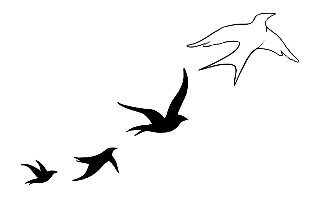 Bird Tattoo Designs In Impressive Ideas Birds 14 Black Four Flying throughout sizing 1114 X 708