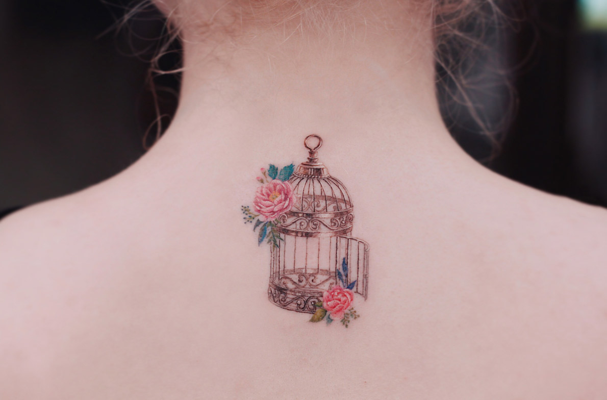 Birdcage Tattoo Tattooblend for proportions 1190 X 784
