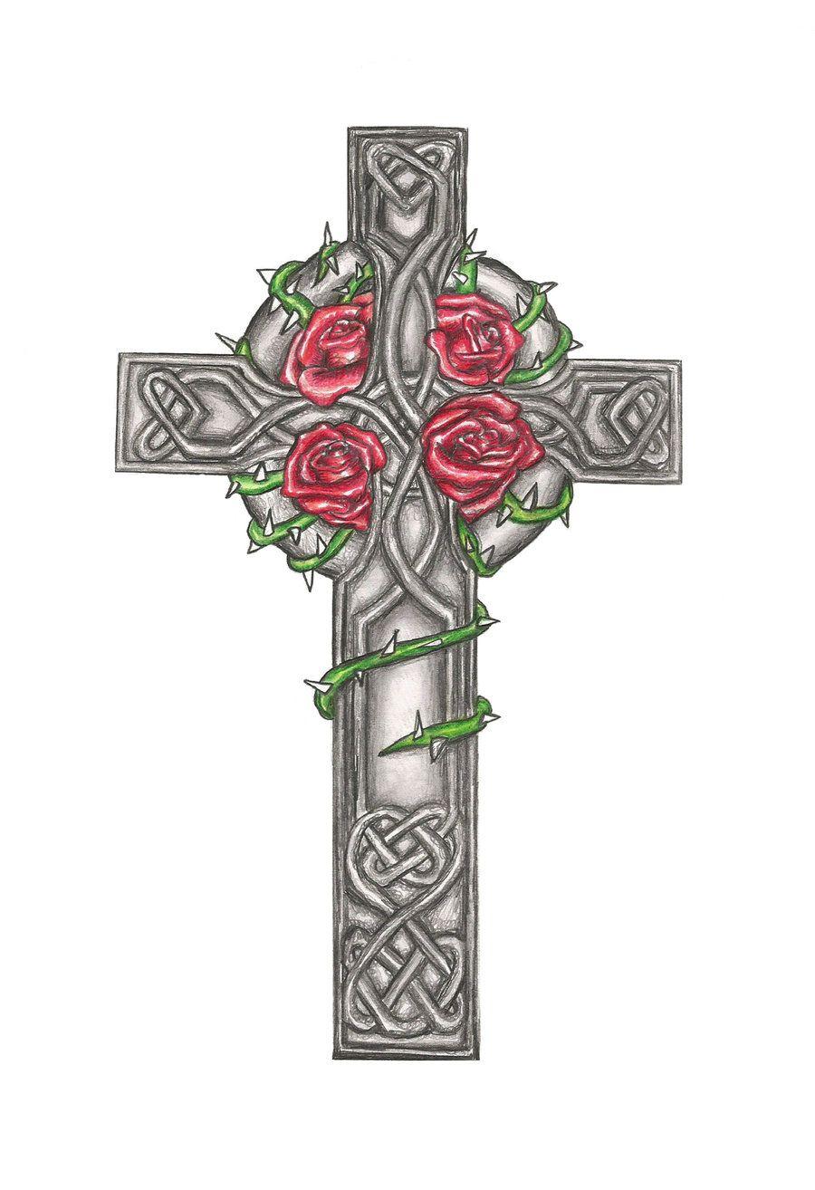 Celtic Cross Tattoo Design Commision Laurenroseox On Deviantart regarding dimensions 900 X 1314