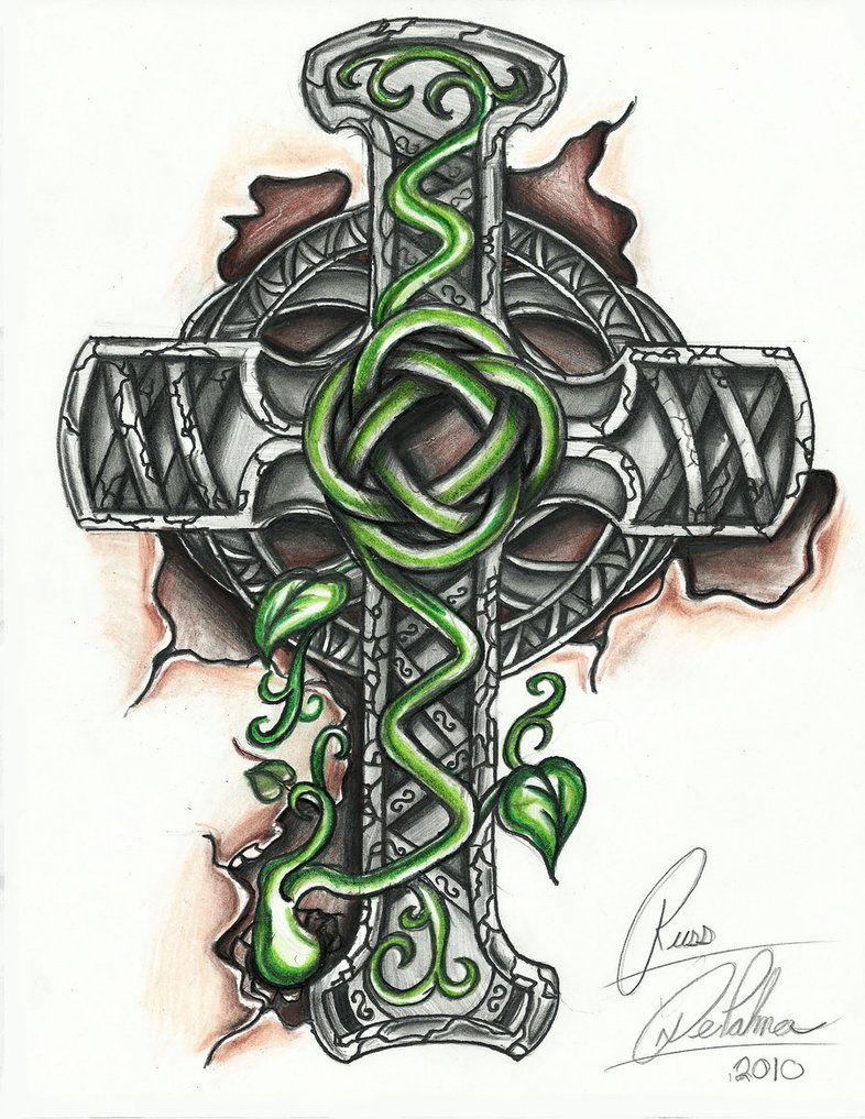 Celtic Cross Tattoo Designs Girl Skull And Bones Cross Cross pertaining to sizing 786 X 1017