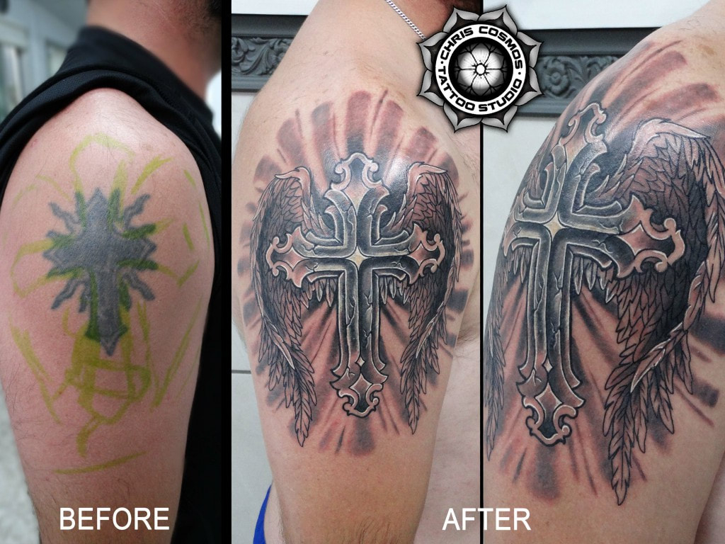Cover Ups Chris Cosmos Tattoo Studio Limassol Cyprus pertaining to dimensions 1024 X 768