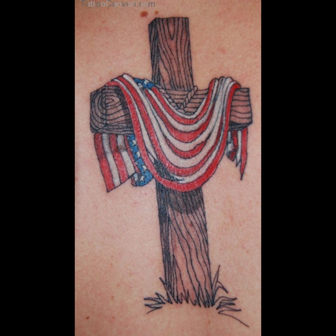 Cross And American Flag Tattoo Ideas Patriotic Tattoos Tattoos within measurements 1280 X 1280