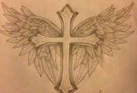 Cross With Wings Tattoo Design Protxticsdeviantart On inside proportions 900 X 1200