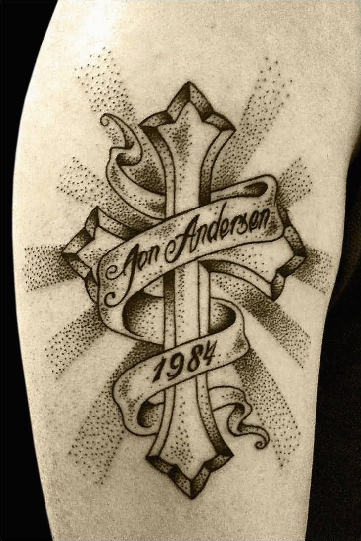 Crosses With Banners Tattoos Designs Cross Banner Tattoo Ideas And inside sizing 730 X 1095