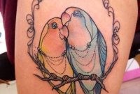 Cute Love Birds Tattoo On Thigh Tattoos Book 65000 Tattoos Designs for size 800 X 1067