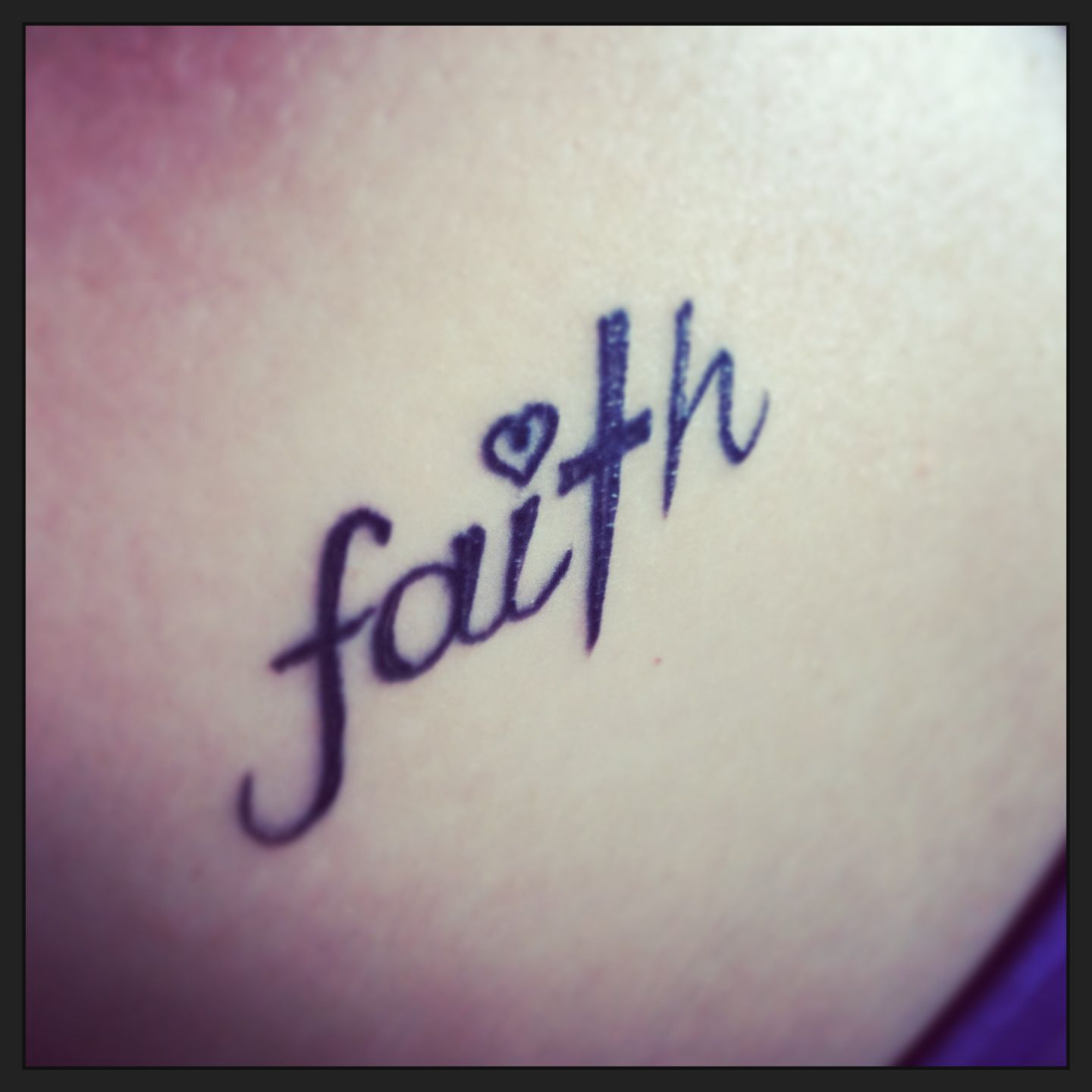 Faith Tattoo T Is A Cross I Dotted With Heart Beautiful Tattoos with regard to sizing 1440 X 1440