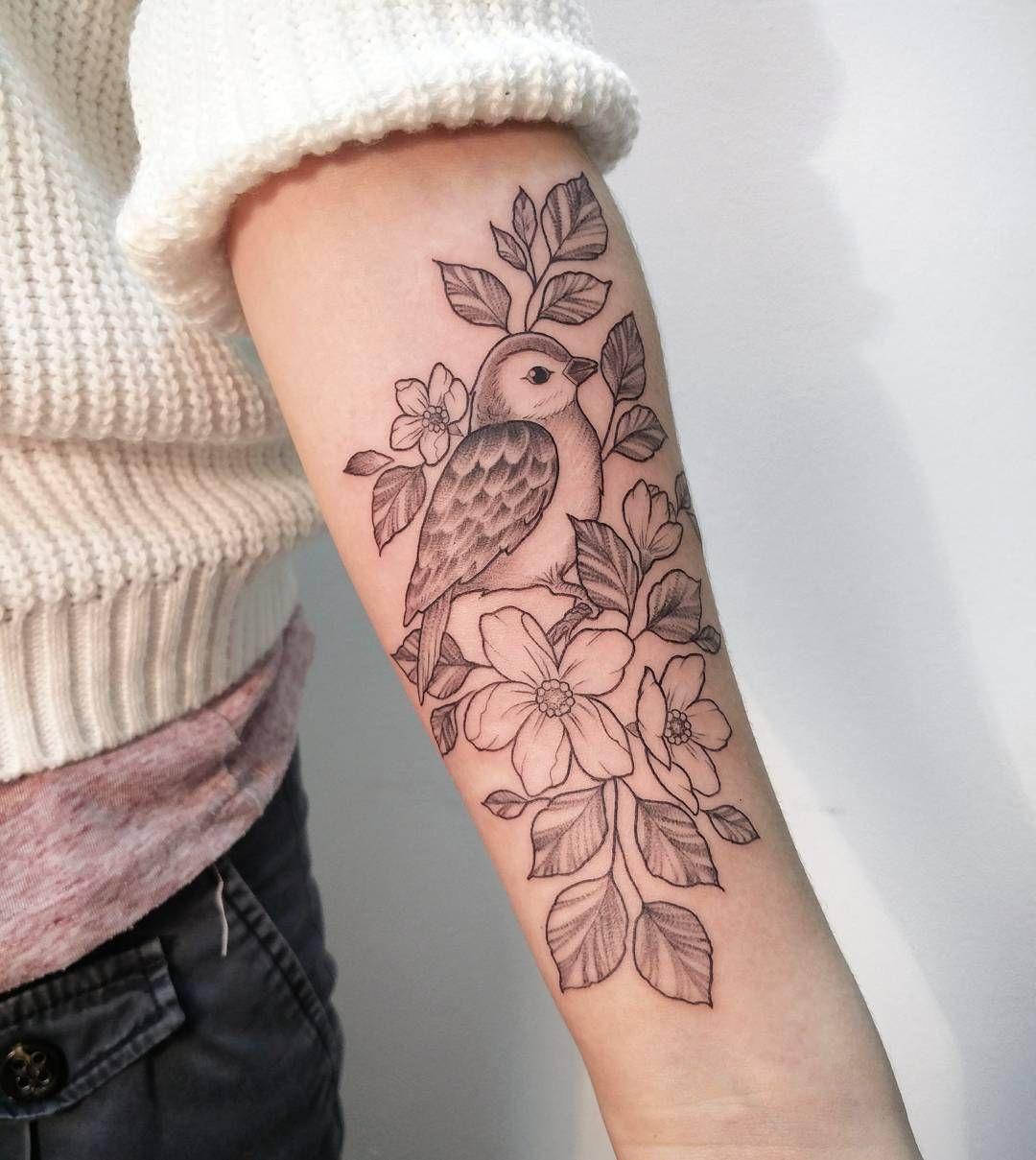 Forearm Feminine Bird Tattoo Irene Bogachuk Tattoos Irene for sizing 1080 X 1209