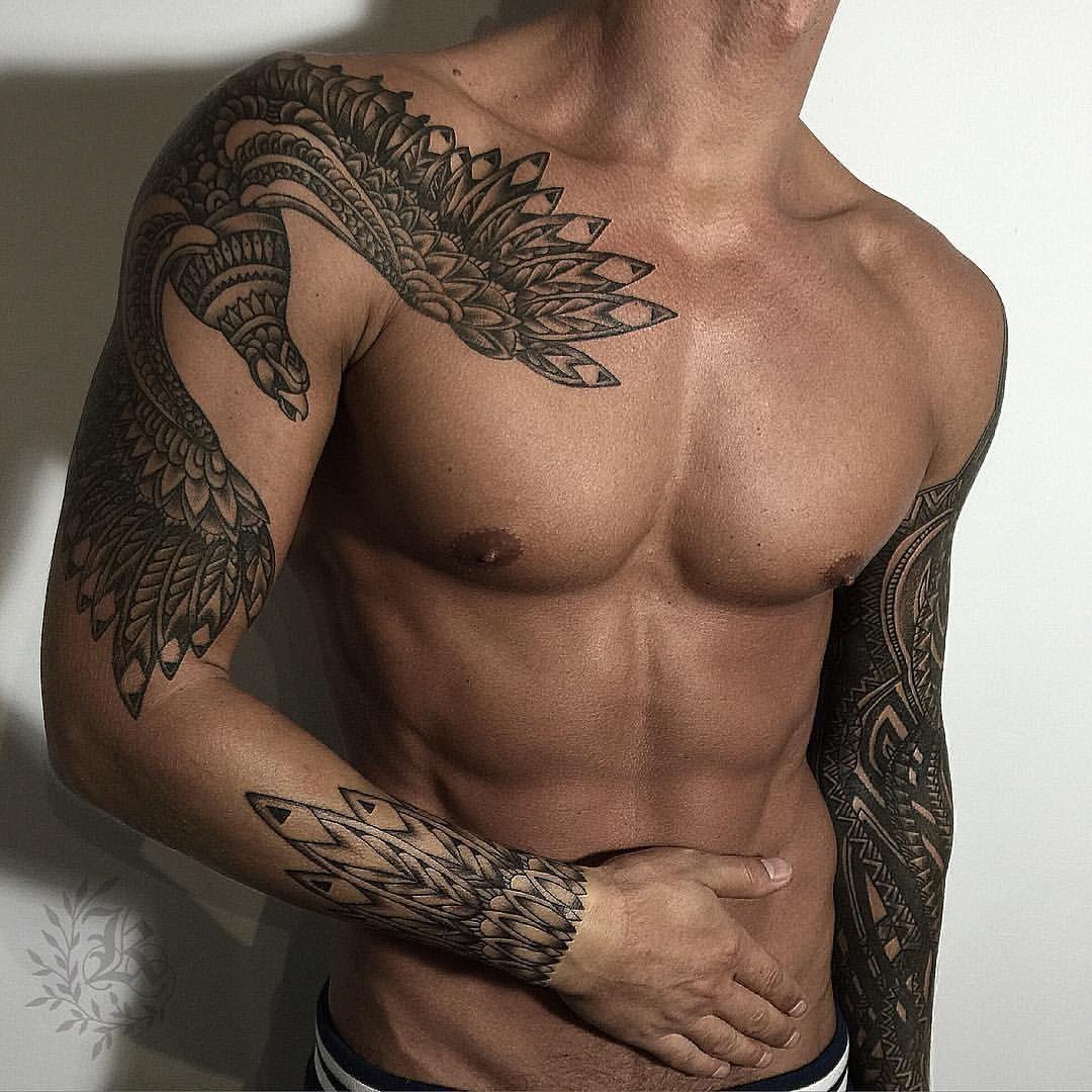 Good Looking Mens Tribal Tattoo Bird Tattoo Tattoo Sleeve Hot Men in measurements 1080 X 1080