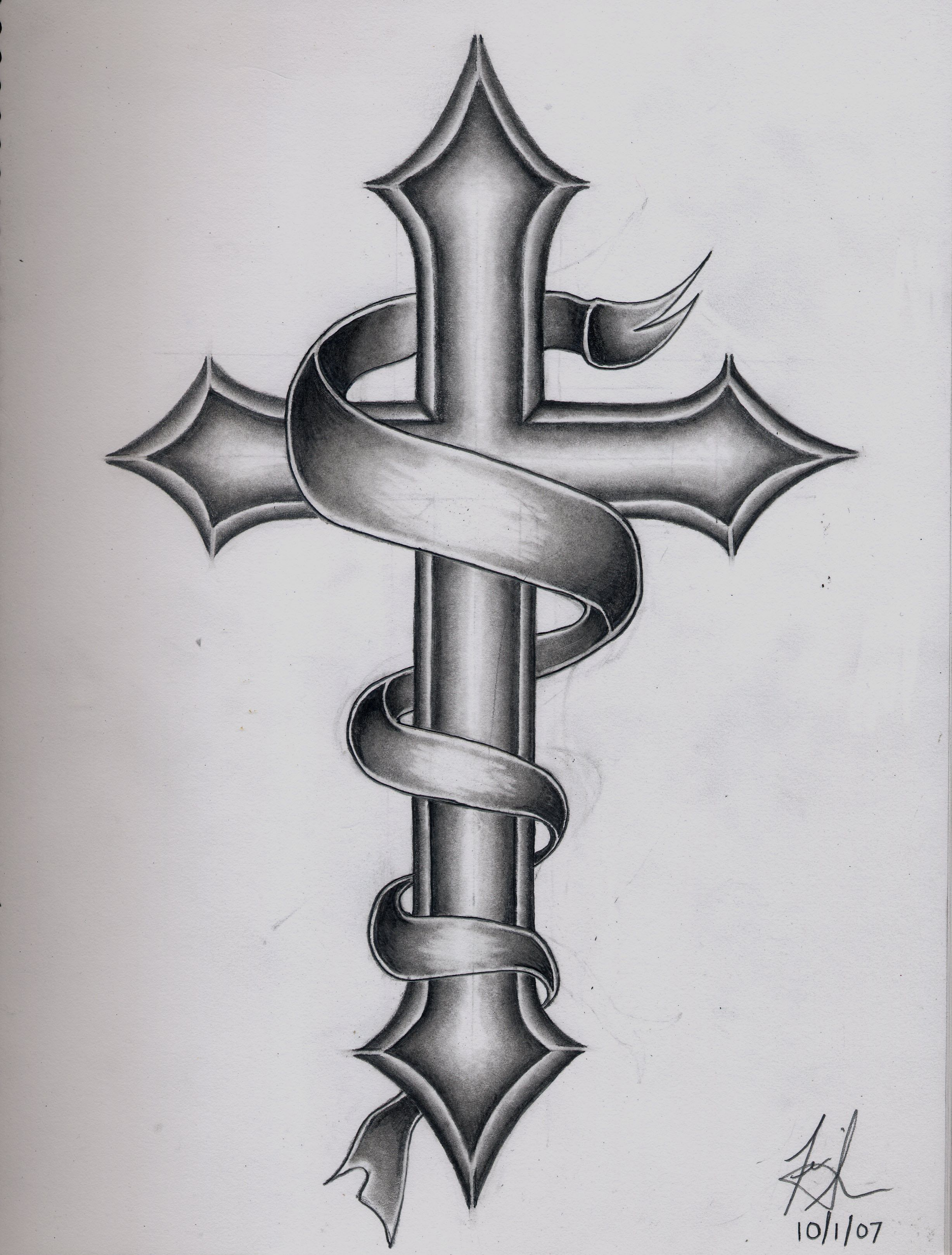 Images For Catholic Cross Tattoo Designs For Men Tats Cross in proportions 2454 X 3234