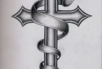 Images For Catholic Cross Tattoo Designs For Men Tats Cross intended for size 2454 X 3234