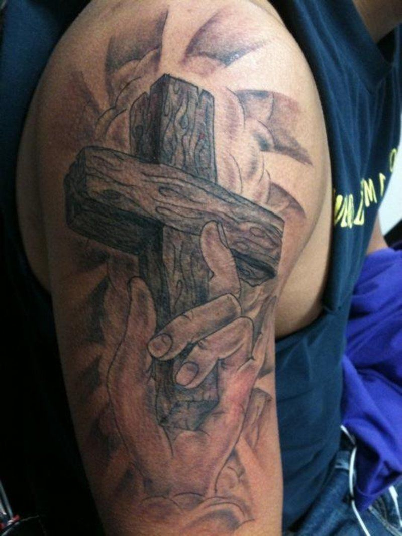 Jesus On Cross Tattoos For Men Religious Cross Tattoo On regarding size 800 X 1067