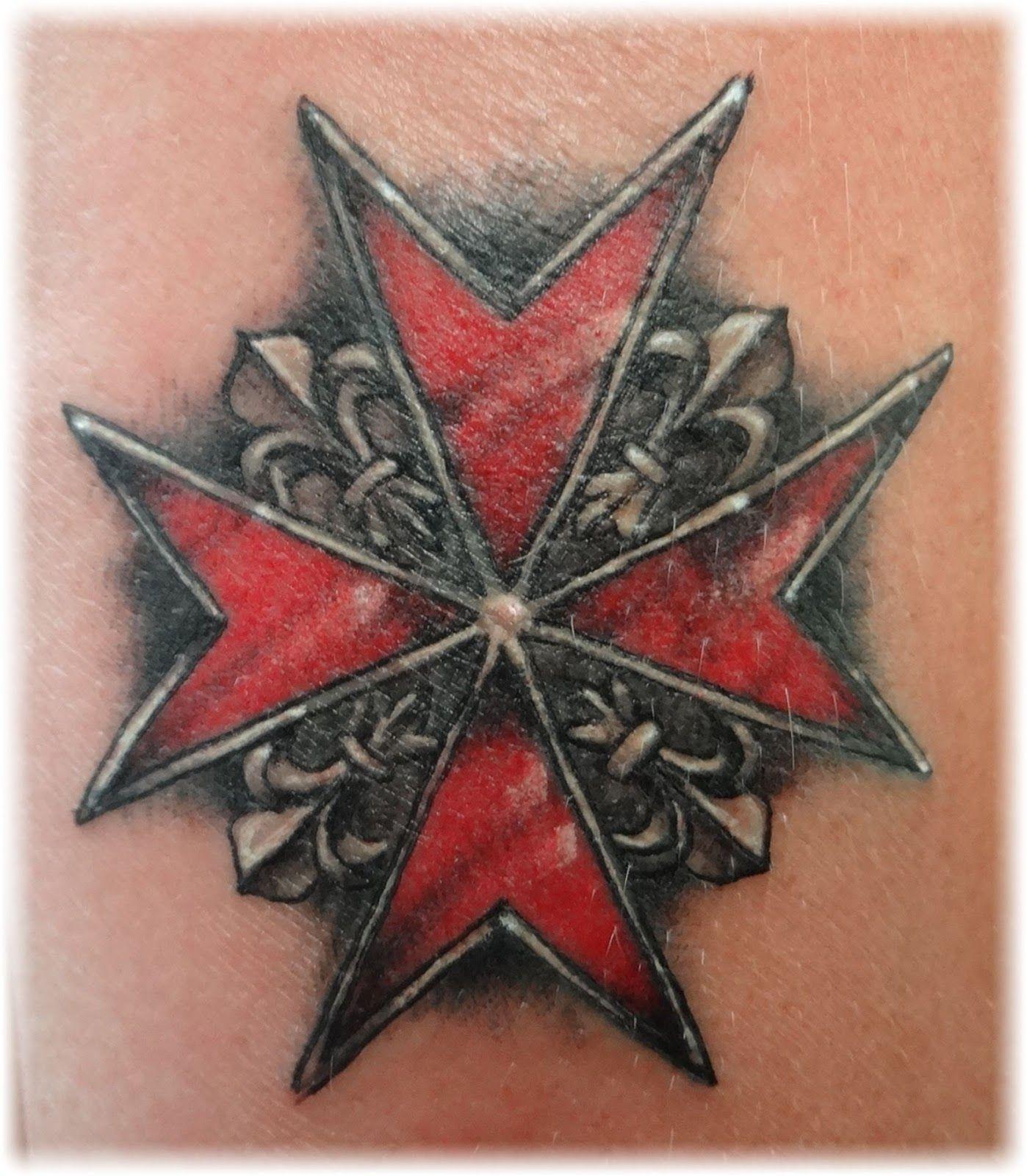 Maltese Cross Tattoo Design Firefighter Tatoos Maltese Cross for dimensions 1398 X 1600