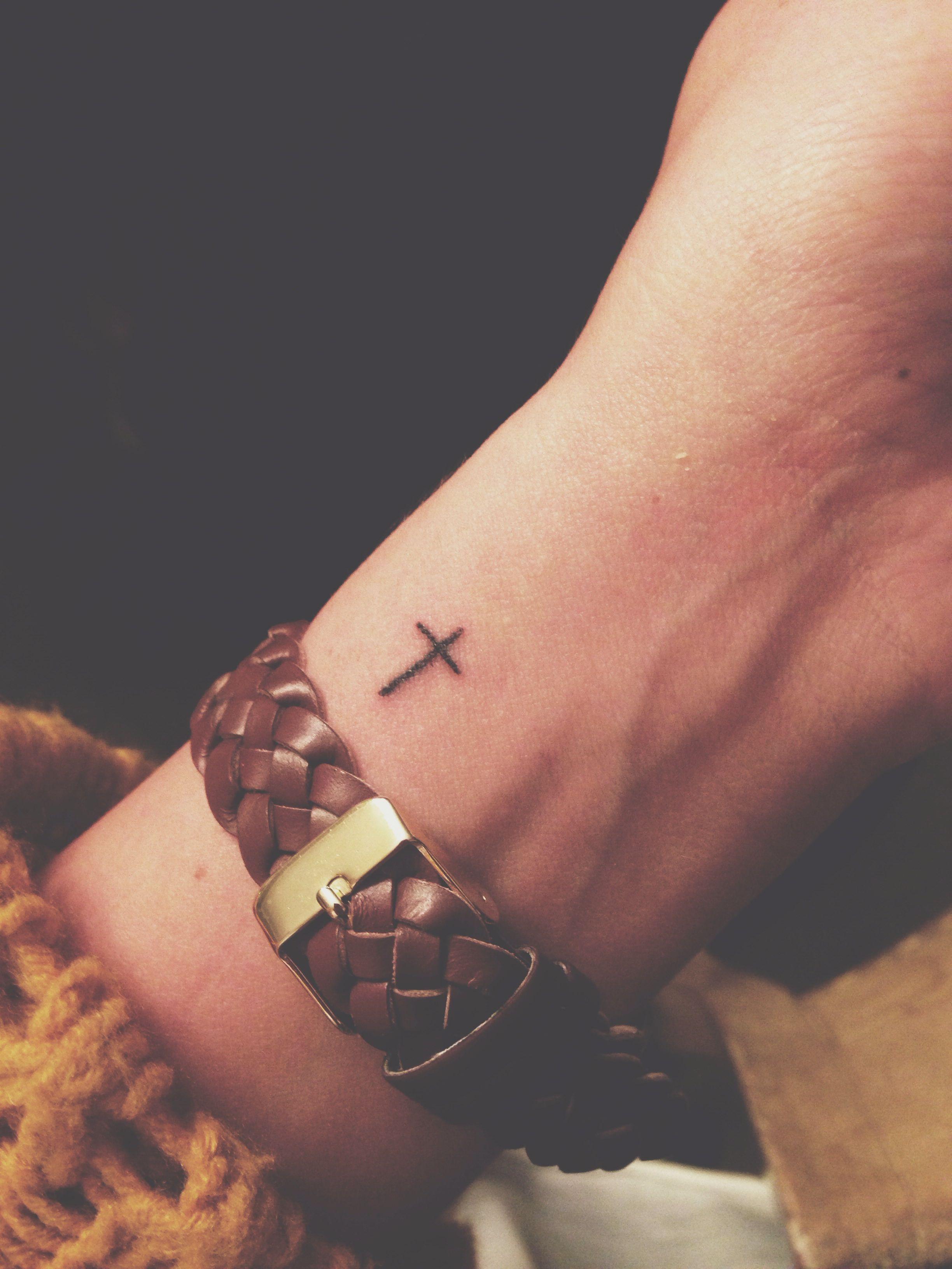 My Tiny Cross Tattoo Tattin It Up Tatto inside size 2448 X 3264