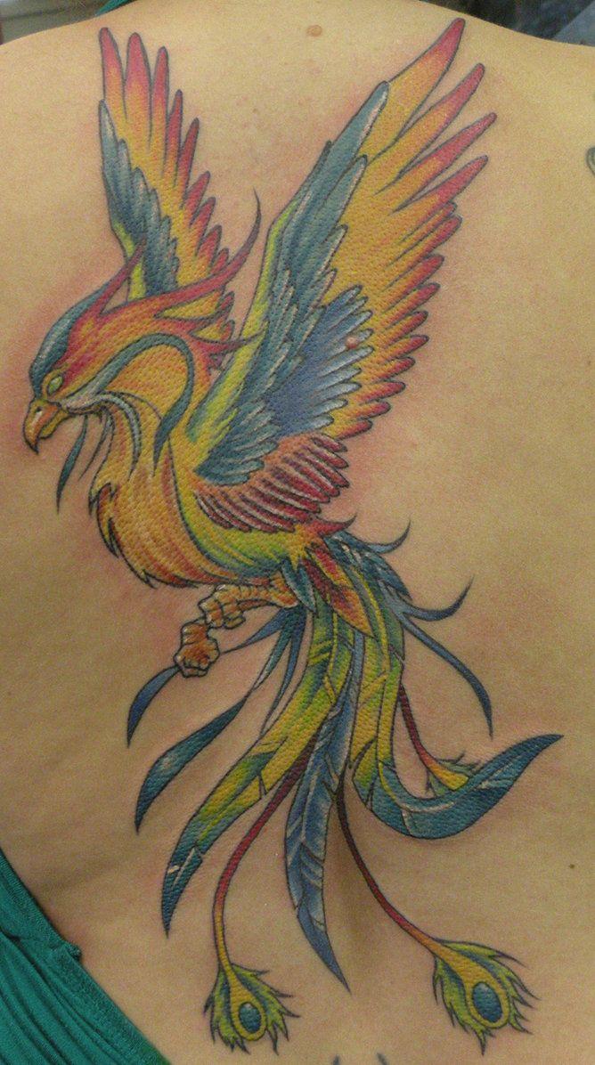 Phoenix Bird Tattoo Designs Colorful Rainbow Phoenix Tattoo The in size 668 X 1196