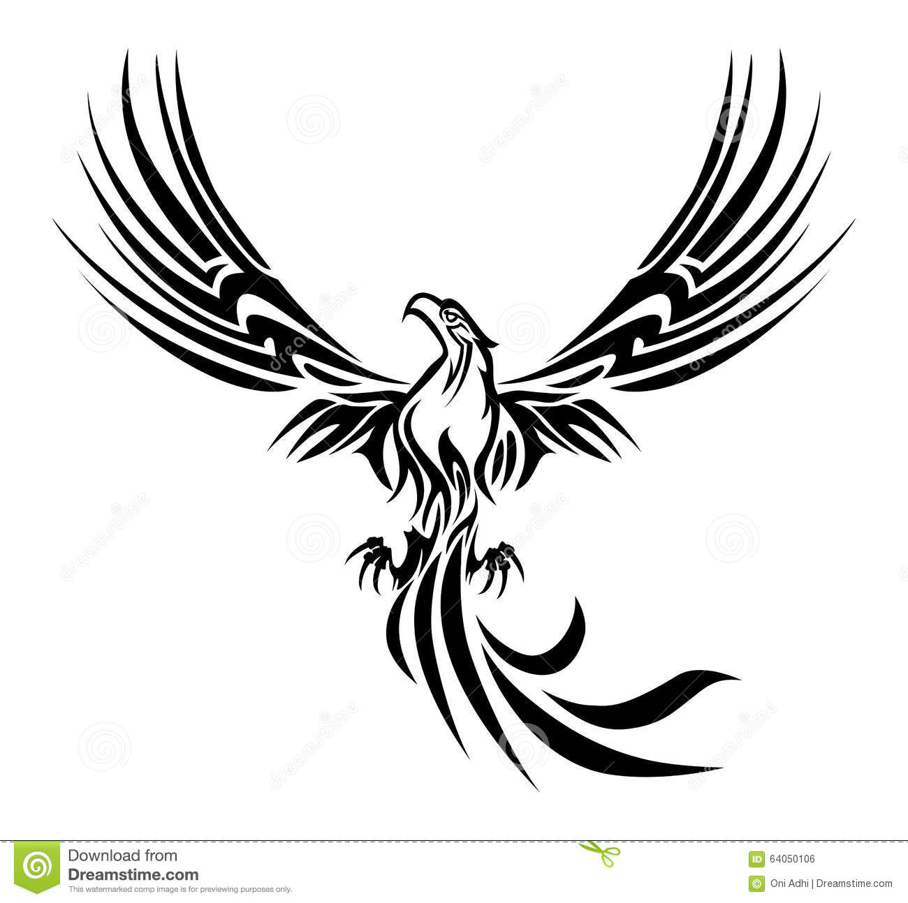 Phoenix Tattoo Stock Illustration Illustration Of Fire 64050106 for proportions 1300 X 1294
