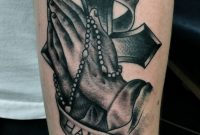 Pics Photos Praying Hands Rosary Cross Tattoo Tattoo Design throughout proportions 1500 X 2302