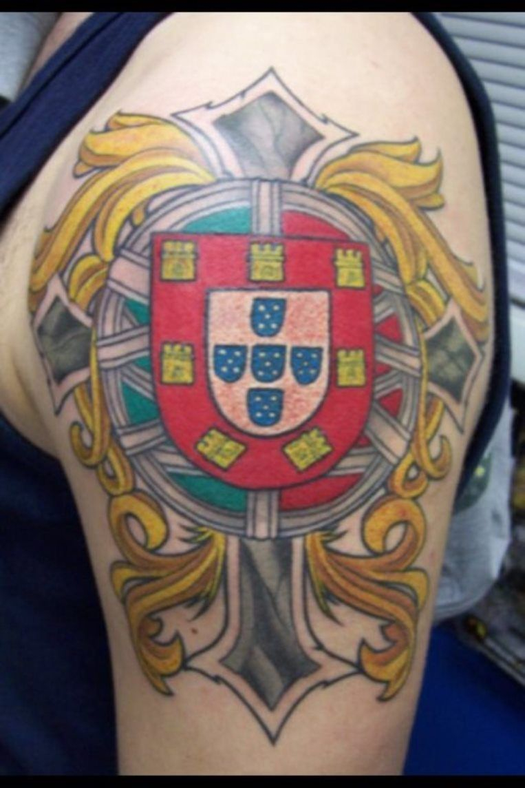 Portuguese Coat Of Arms Tattoo Cool Tattoos Portuguese Tattoo pertaining to proportions 763 X 1144