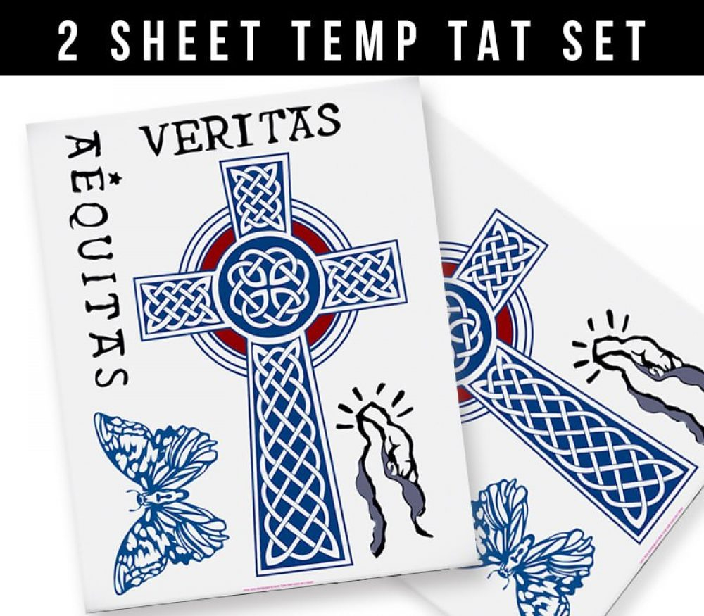 Set Of Official Bds Temporary Tattoos Boondock Saints inside size 1000 X 875