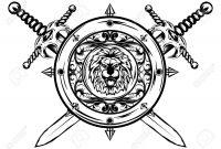 Stock Vector Tattoo Ideas Sword Tattoo Shield Tattoo Sword for sizing 1300 X 927