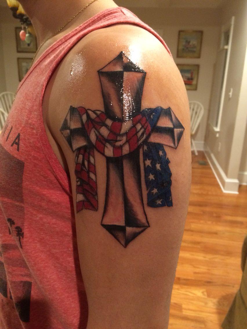 Tattoo Flag Cross Tattoo Necklace Tattoo Tattoos Patriotic Tattoos with regard to size 852 X 1136