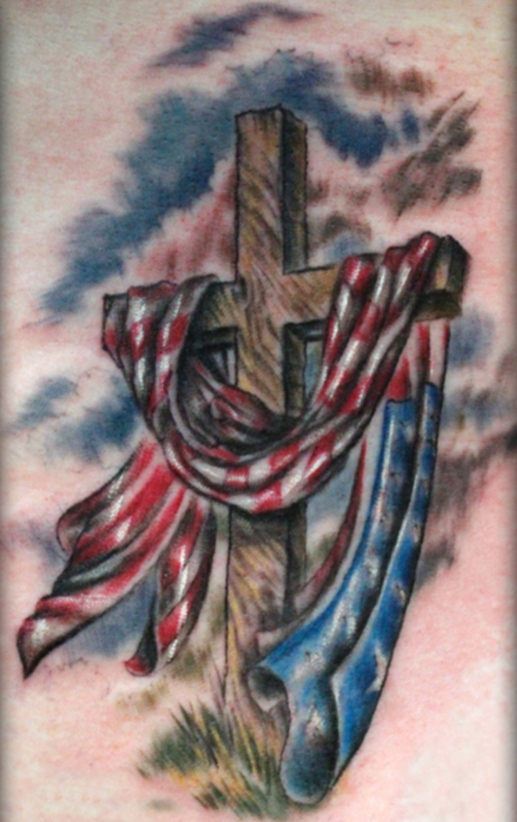 When Cross And Flag Combinethey Make Terrible Tattoos Zack Hunt with measurements 748 X 1190