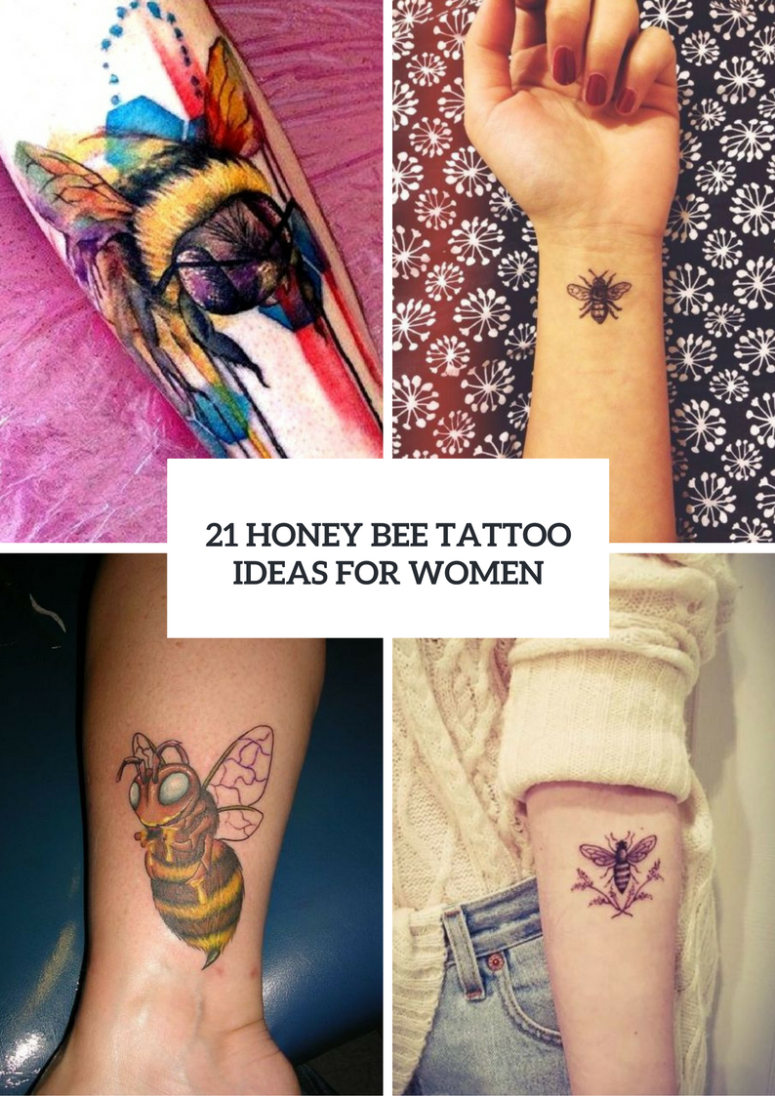 21 Honey Bee Tattoo Ideas For Women Styleoholic with regard to size 775 X 1096