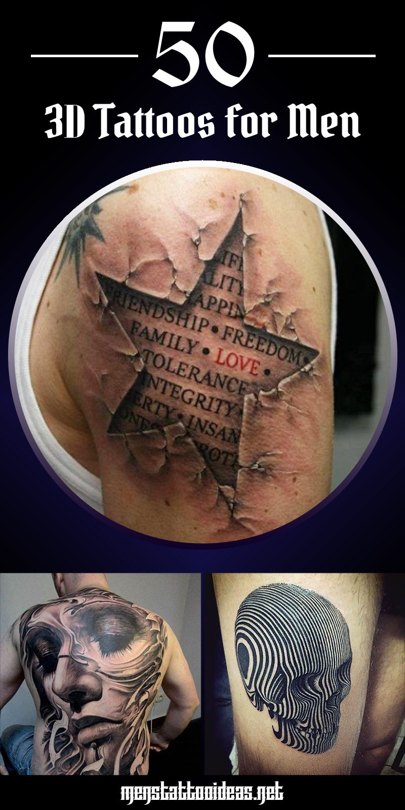 3d Tattoos For Men Ideas And Inspiration For Guys with sizing 800 X 1600