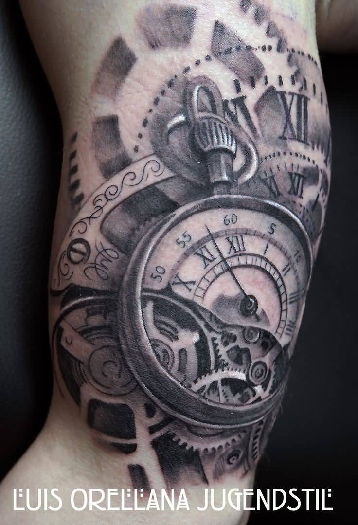 40 Best Clock Tattoos Ideas pertaining to sizing 736 X 1079