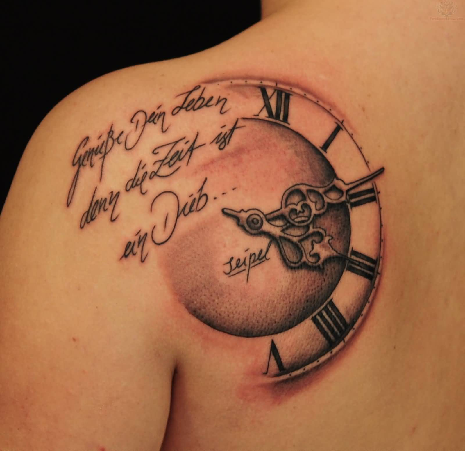 40 Best Clock Tattoos Ideas regarding sizing 1600 X 1550