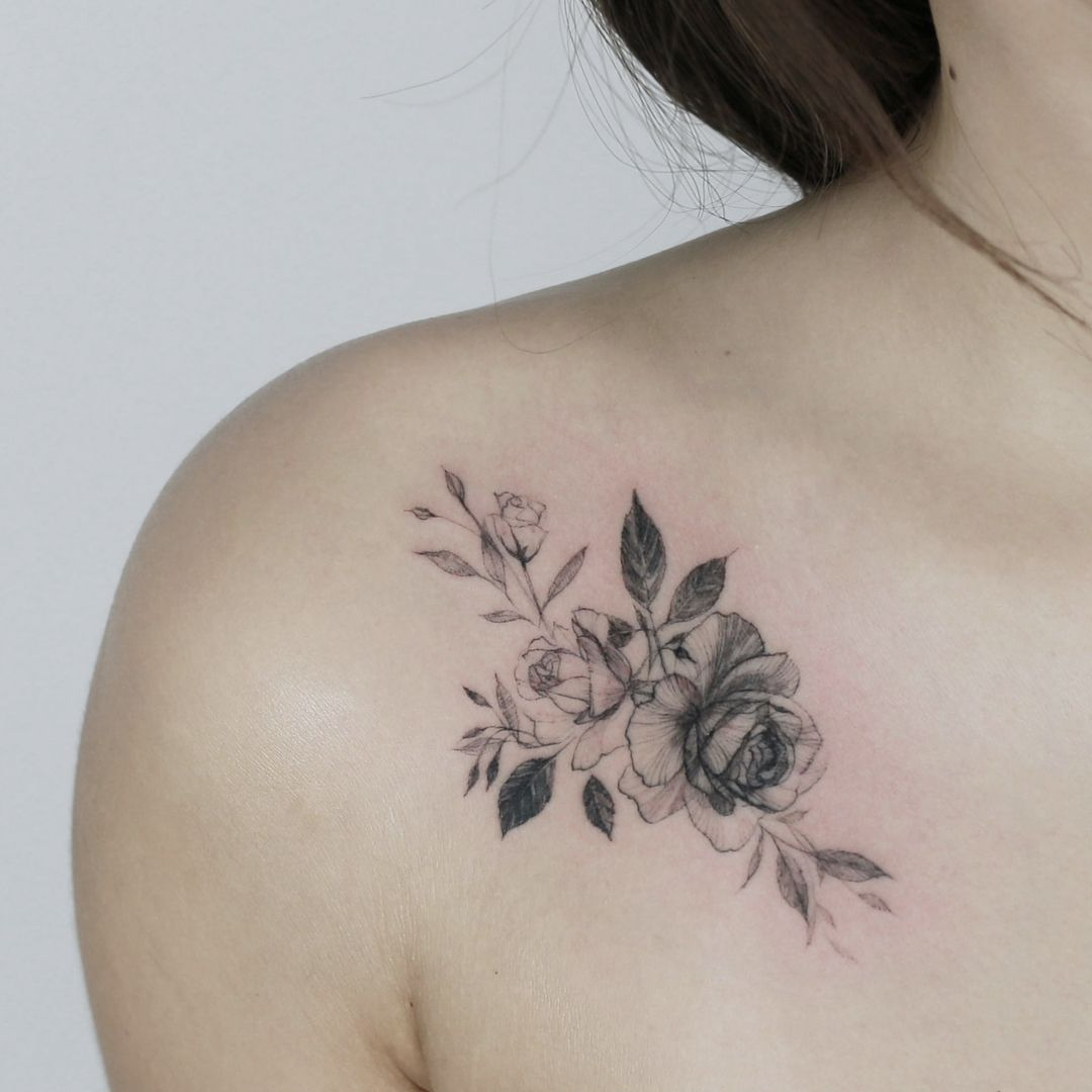 45 Front Shoulder Tattoo Designs For Beautiful Women 2019 Shoulder intended for measurements 1080 X 1080
