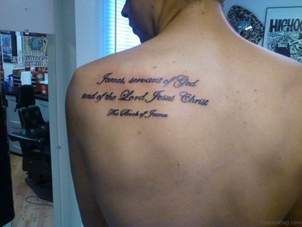 52 Religious Bible Verses Tattoos Designs On Back throughout size 1024 X 768
