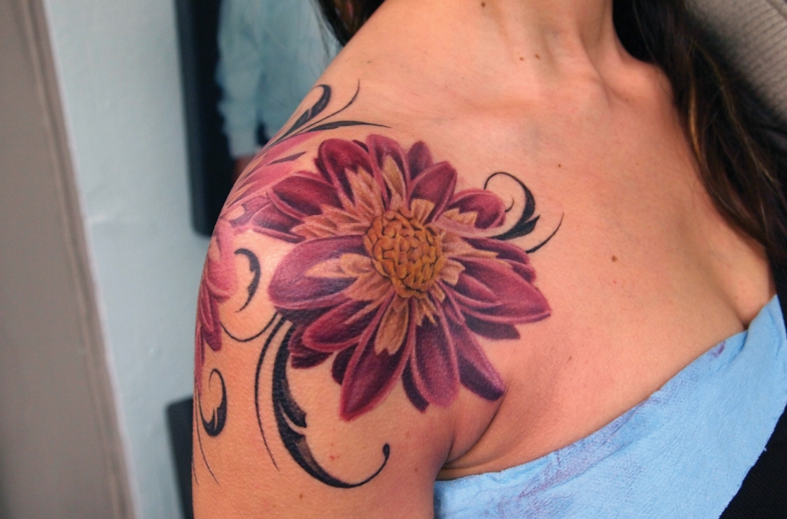 57 Amazing Cover Up Shoulder Tattoos throughout size 1120 X 738