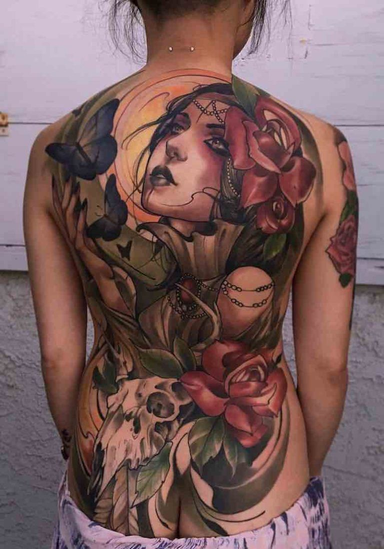 68 Best Back Tattoos Tattoos Uncommon Unique Ideas Back throughout size 768 X 1099