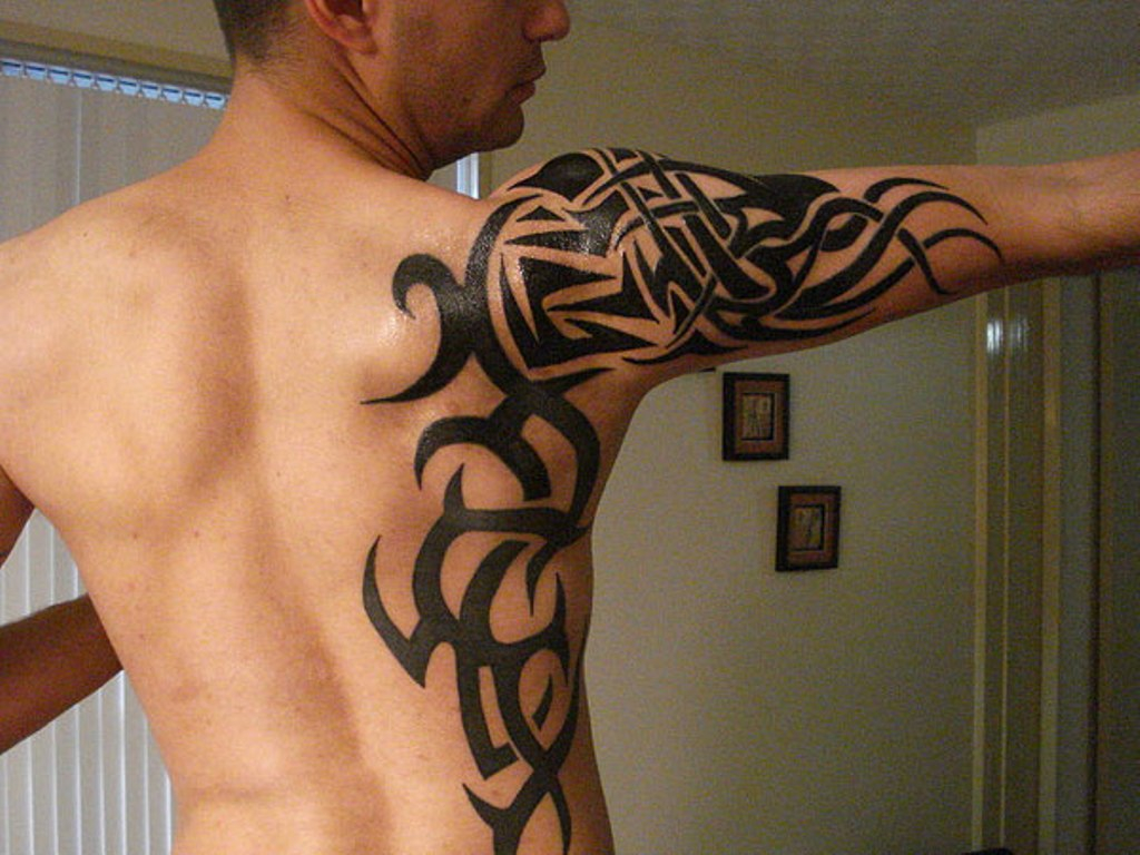 69 Traditional Tribal Shoulder Tattoos throughout size 1024 X 768