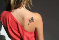 Back Shoulder Black Small Flower Tattoos Designs Tattoos inside size 1600 X 900