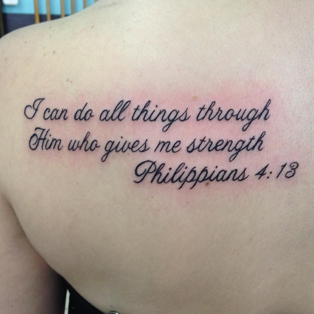 Bible Verses Tattoos A Tattoo Made Up Of Your Favorite Bible Verse intended for size 1080 X 1080