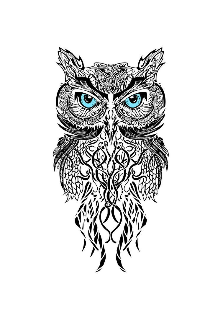 Black And White Owl This Would Be Awesome As A Tattoo Between The with regard to size 756 X 1057