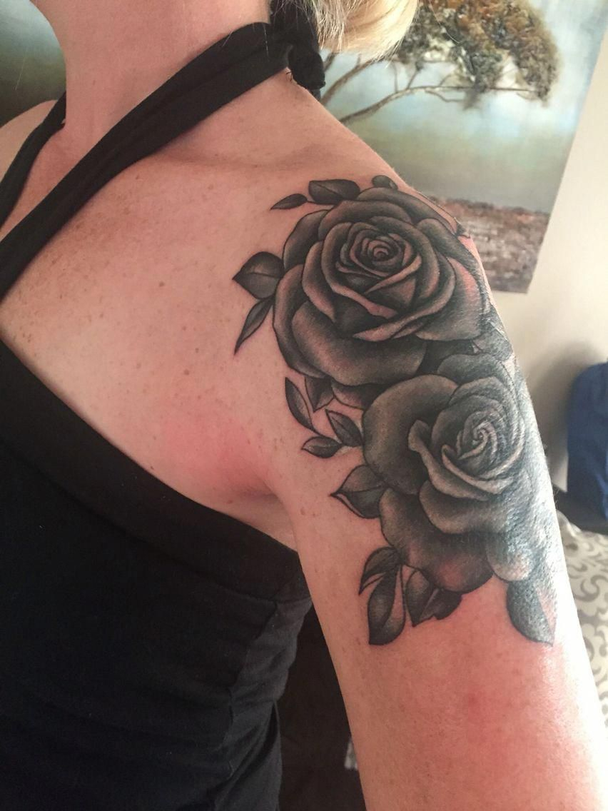 Cover Up Love My New Ink Rose Shoulder Cap Tattoo with proportions 852 X 1136